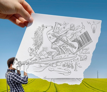 Pencil vs Camera by Ben Heine 06