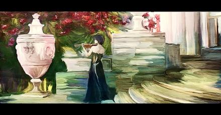 Violinist by Nina Graschenko