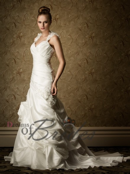 Cap Sleeves Delicately Wedding Dress