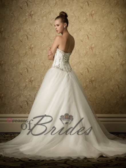 Beaded Embellishement Sophisticated Bridal Gown