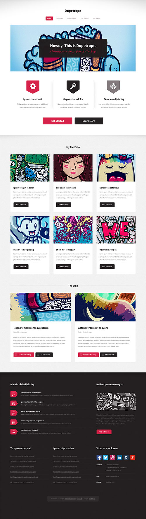 Dopetrope - Free Site Template