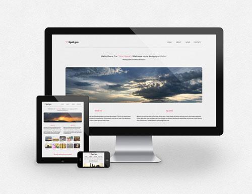 Liquid Gem - Free Responsive HTML5 Template