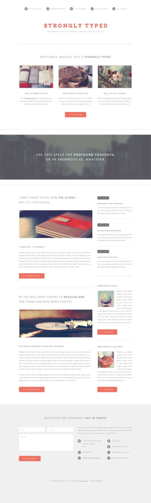 Strongly Typed - Responsive Template with Minimal Style